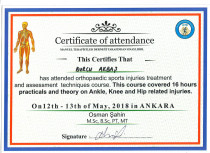Fiizyoterapist ve Oral Motor Gelişim Terapisti Sertifika